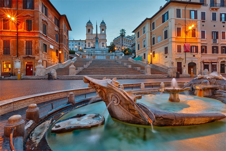 Spanish Steps area, Rome, Italy