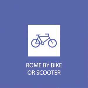 Rome by bike, rome by scooter